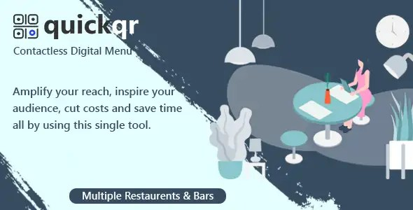 QuickQR - Saas - 非接触式餐厅二维码菜单制作工具