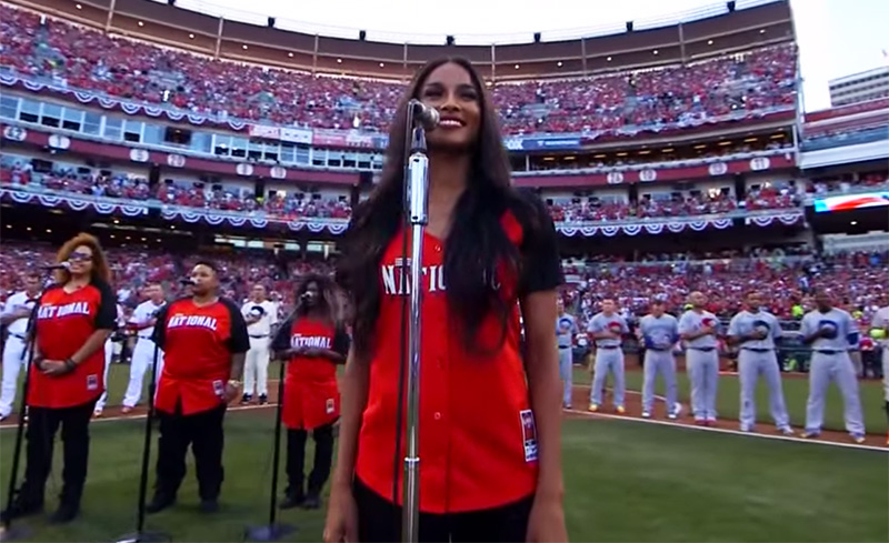 6bc7145c6 Out The Park? Or Get Out The Park: Ciara Performs National Anthem at MLB  All Star Game - JoJoCrews.com