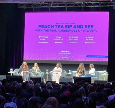 Watch: Porsha Williams & Kenya Moore Throw Shade at Eva Marcille & NeNe Leakes, Talk Phaedra Parks Comeback & More at BravoCon 'RHOA' Panel Alongside Eva & Cynthia Bailey