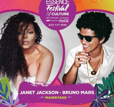 Essence Fest 2020: Janet Jackson, Bruno Mars To Headline+Summer Walker, Jidenna & More [Full Lineup Unveiled]