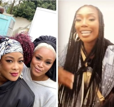 Here For It: Da Brat, Eve, Brandy & Naturi Naughton Fan Out Over Each Other On Set of Their New ABC Drama 'Queens' [Video/Pics]