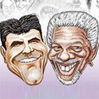 Jojofun Caricature Artist Toronto Simon Cowell Morgan Freeman
