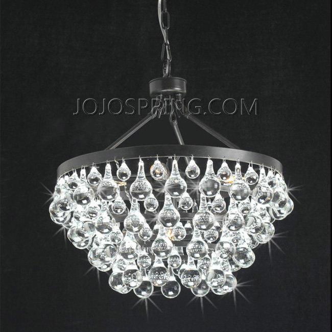 Antique Black 5 Light Crystal Drop Chandelier B889 Tg 417