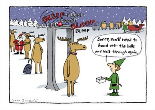 Colin stokes shares a collection of new yorker cartoons with a holiday theme: Christmas Cartoon Jokes