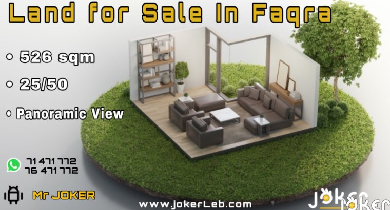 Land for Sale in Faqra