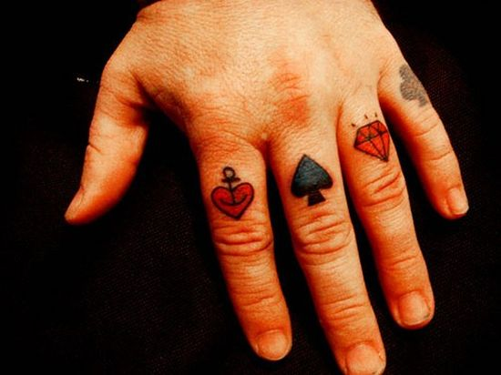 This simple red and black tattoo design I found over the web recently shows