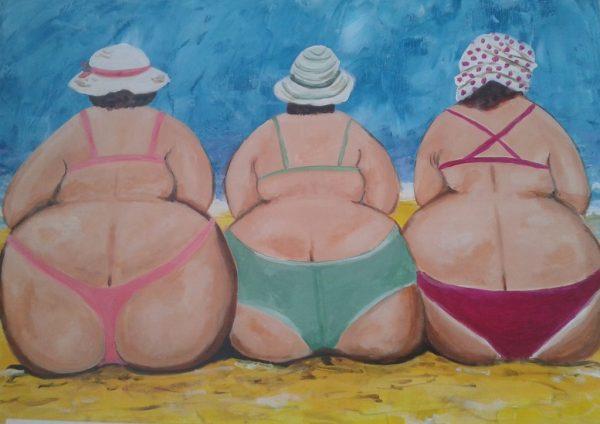 Schilderij dikke dames