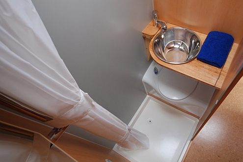 Nasszelle im Kastenwagen mit oder ohne Dusche