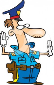 438018-Cartoon-Police-Officer-Controlling-Traffic