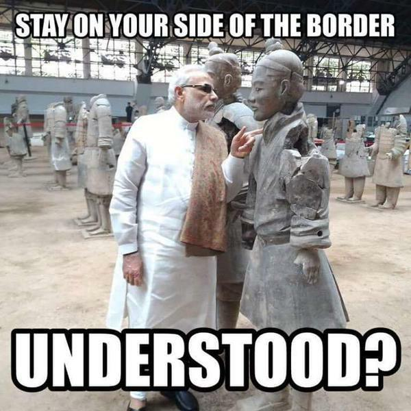 modi in china funny meme