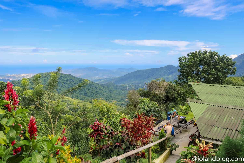 Vista da Casa Elemento em Minca na Colômbia