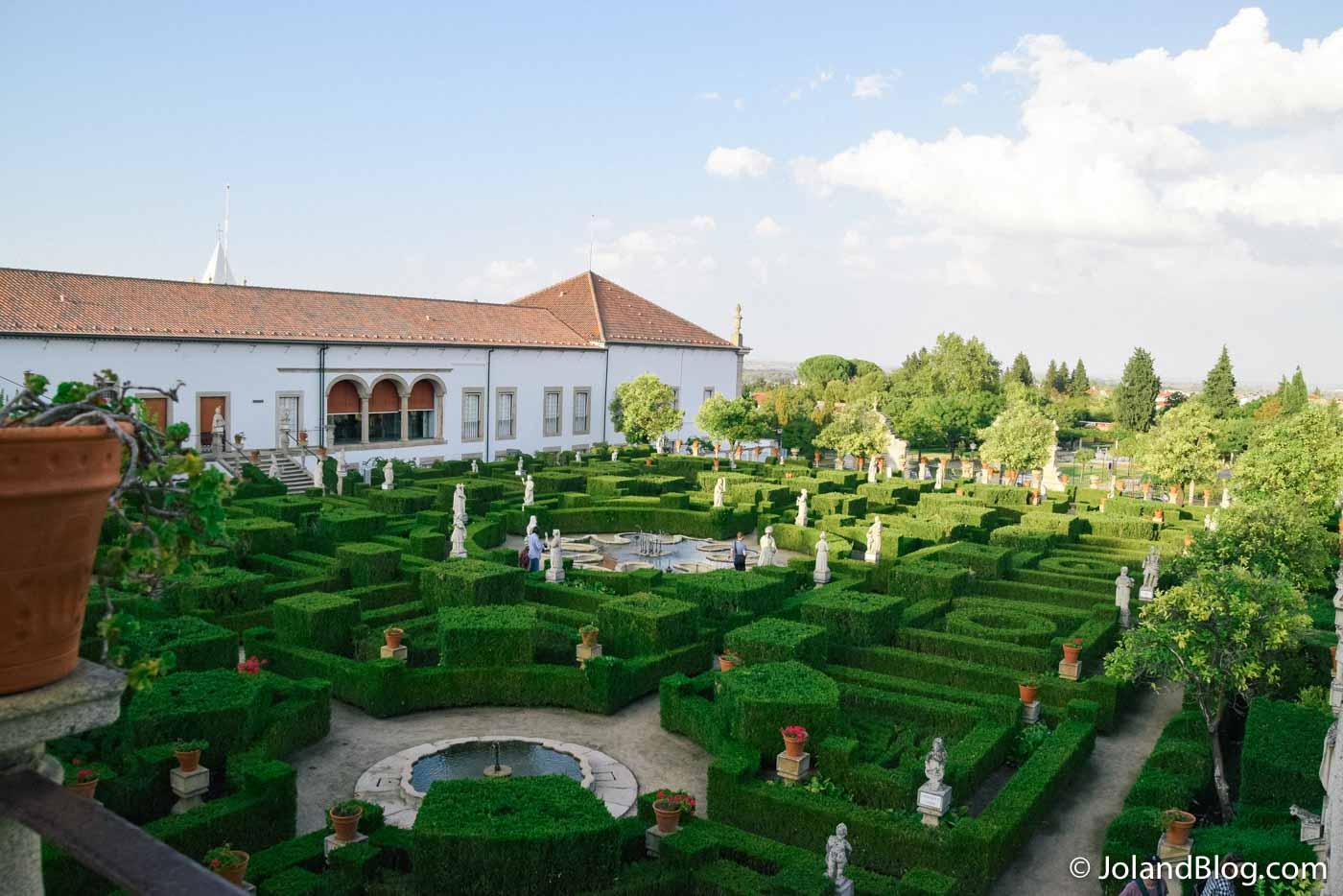 Vista sobre os Jardins do Paço Episcopal em Castelo Branco - Beira Baixa