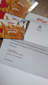 I did complain and got this letter of apology and four vouchers from Pringles