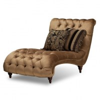 Brown Tufted Microfiber Oversized Chaise Lounge Chair With ...