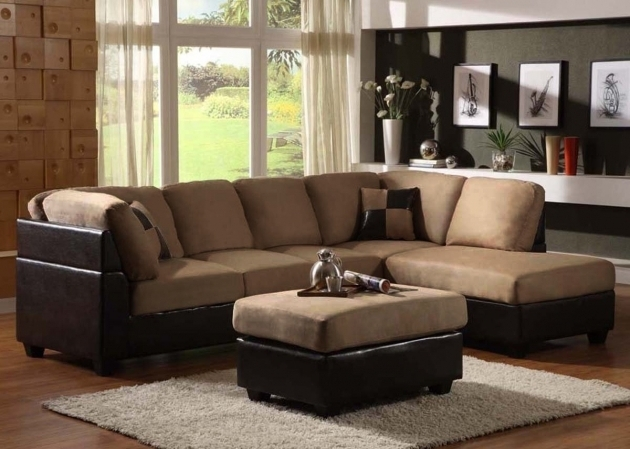 grey microfiber sectional sofa with chaise and cuddle photo 25