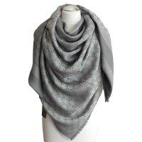 Gucci Scarf GG web Gucci Scarves Wool Grey ref.23398 ...
