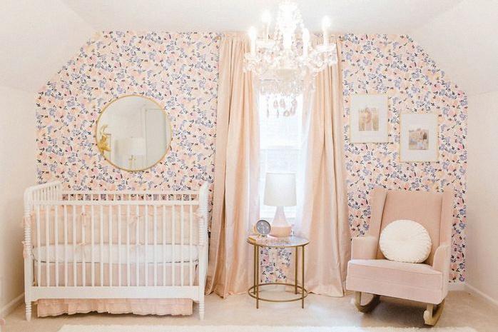 deco la chambre bebe rose poudre et