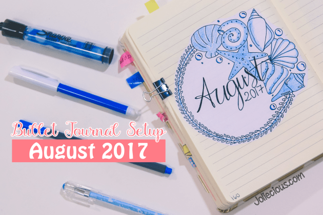 bullet journal setup august 2017