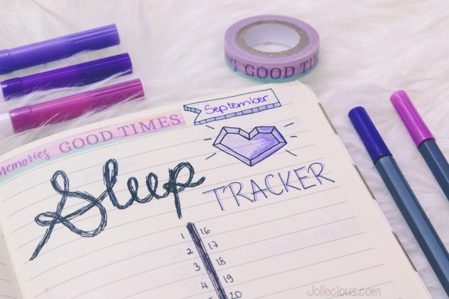 Bullet Journal Setup September 2017 - Sleep Tracker