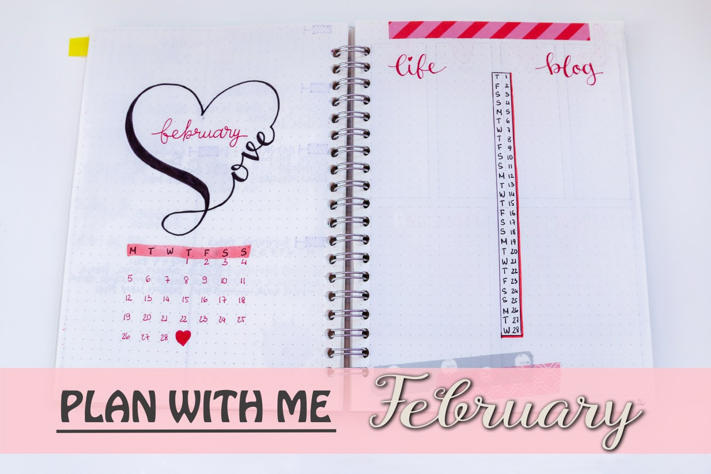February 2018 Bullet Journal Set Up
