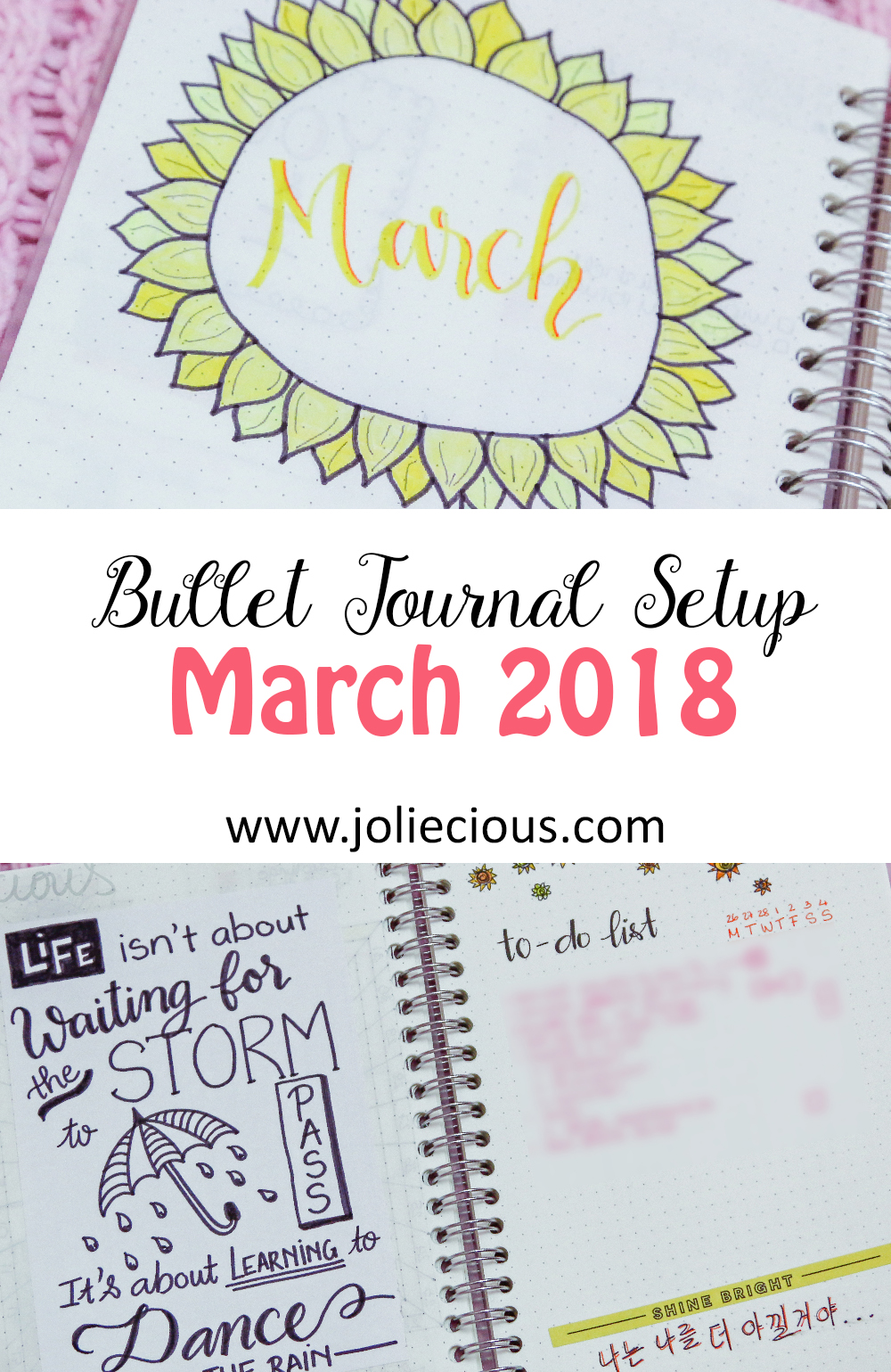 march 2018 bullet journal