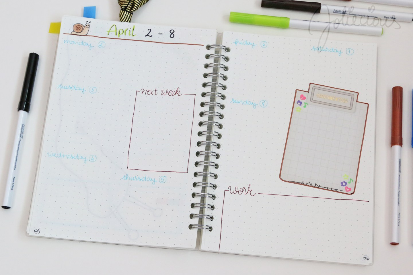 plan with me april 2018 bullet journal setup