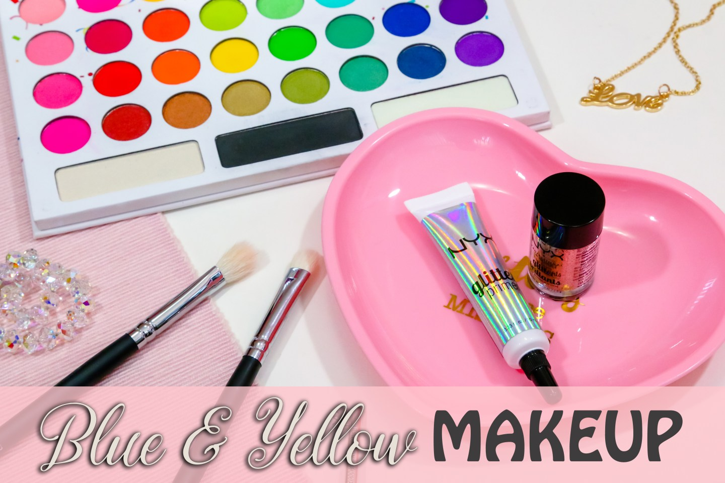 Bold color makeup tutorial | Blue and yellow makeup | Easy makeup tutorial for beginner | BH Cosmetics Take Me Back to Brazil palette