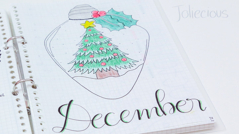 December Bullet Journal Setup