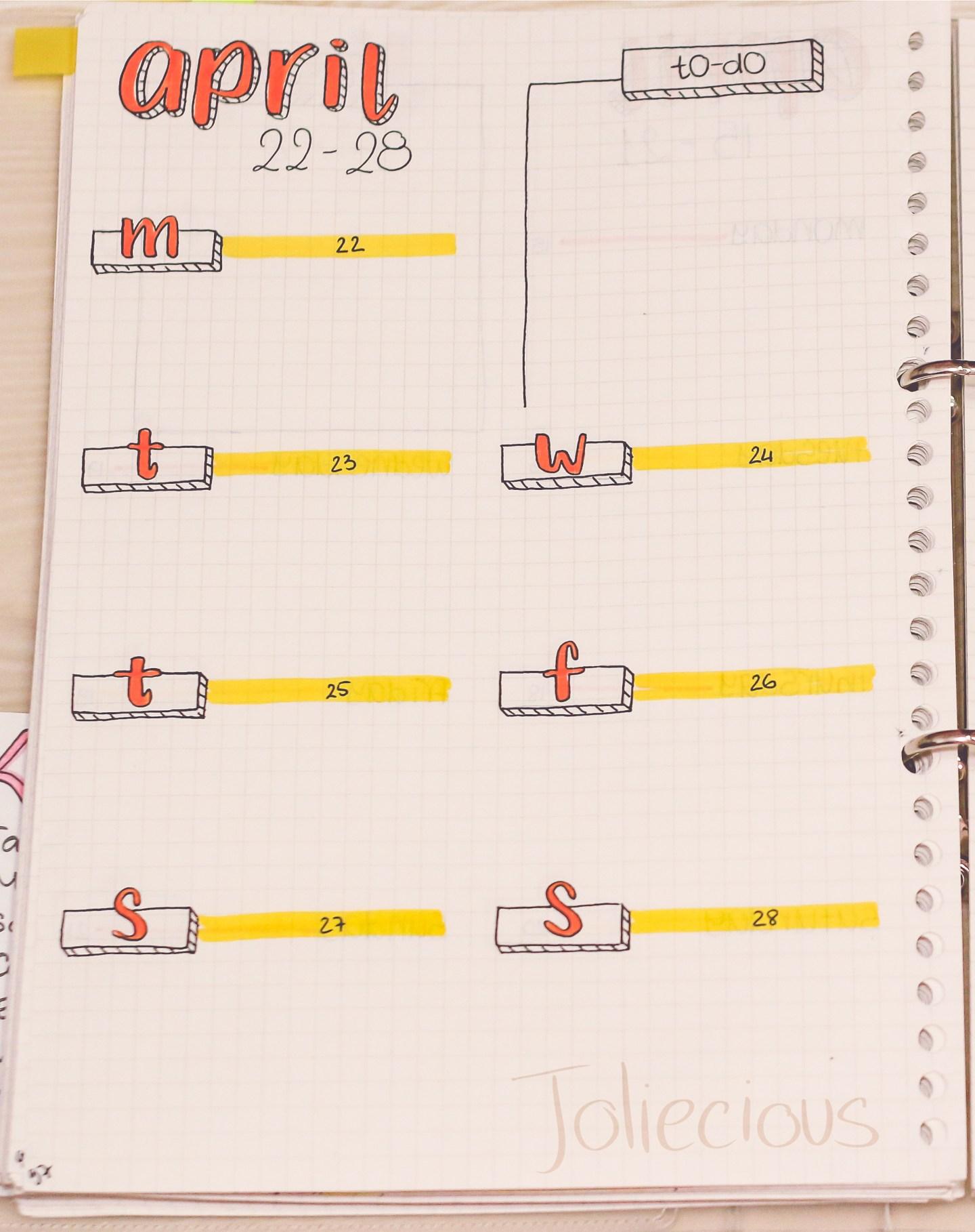 april-bullet-journal-setup