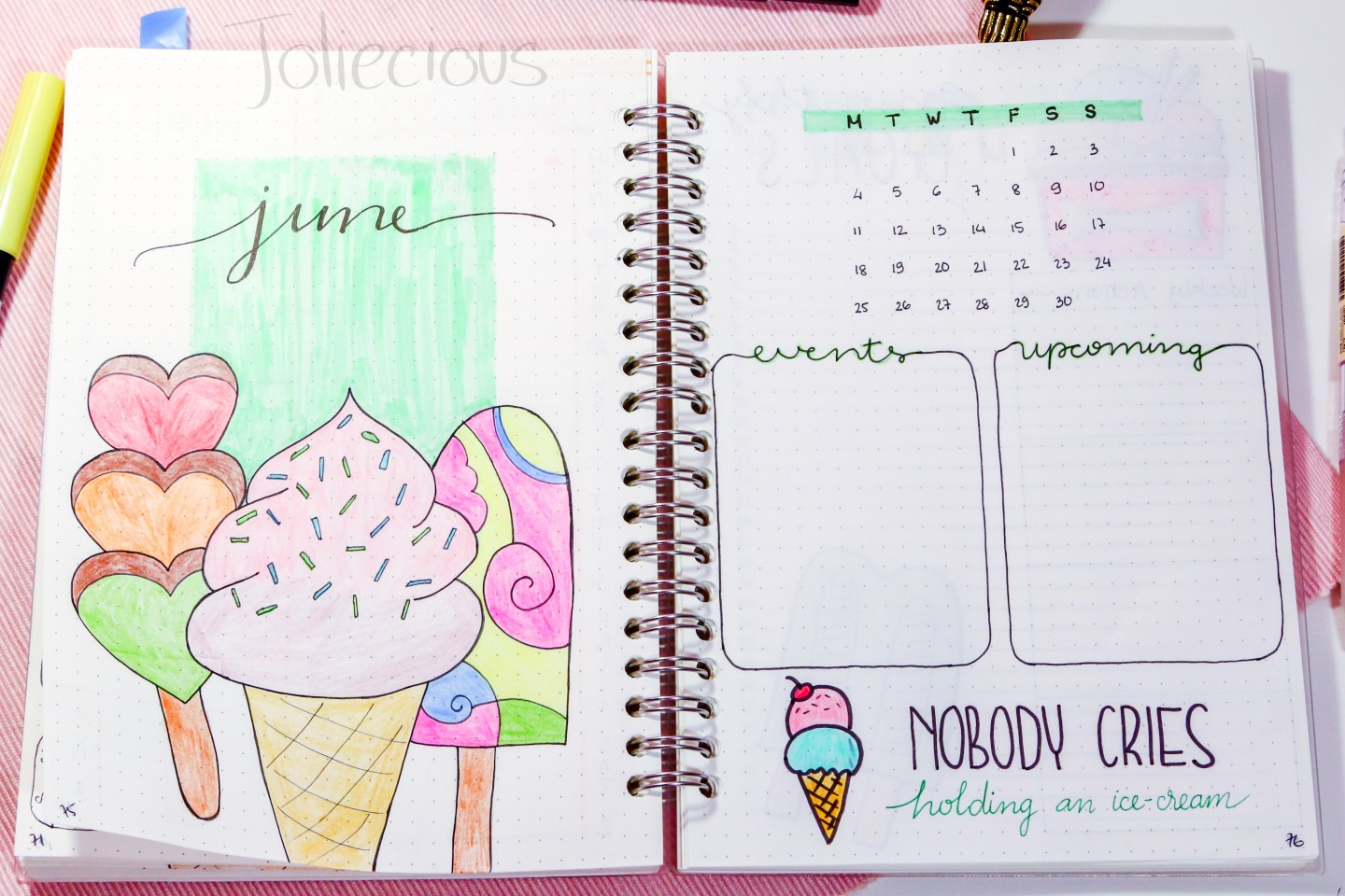 15 June Cover Page – Title Page Ideas for Your Next Bullet Journal Setup