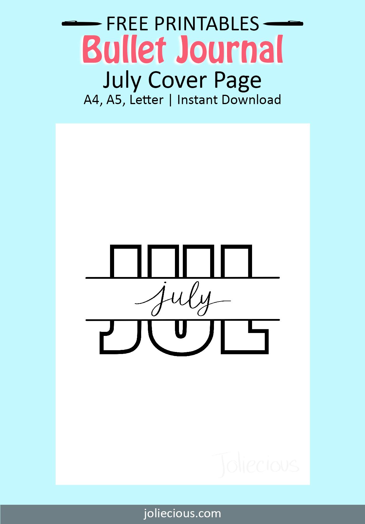 july bullet journal theme