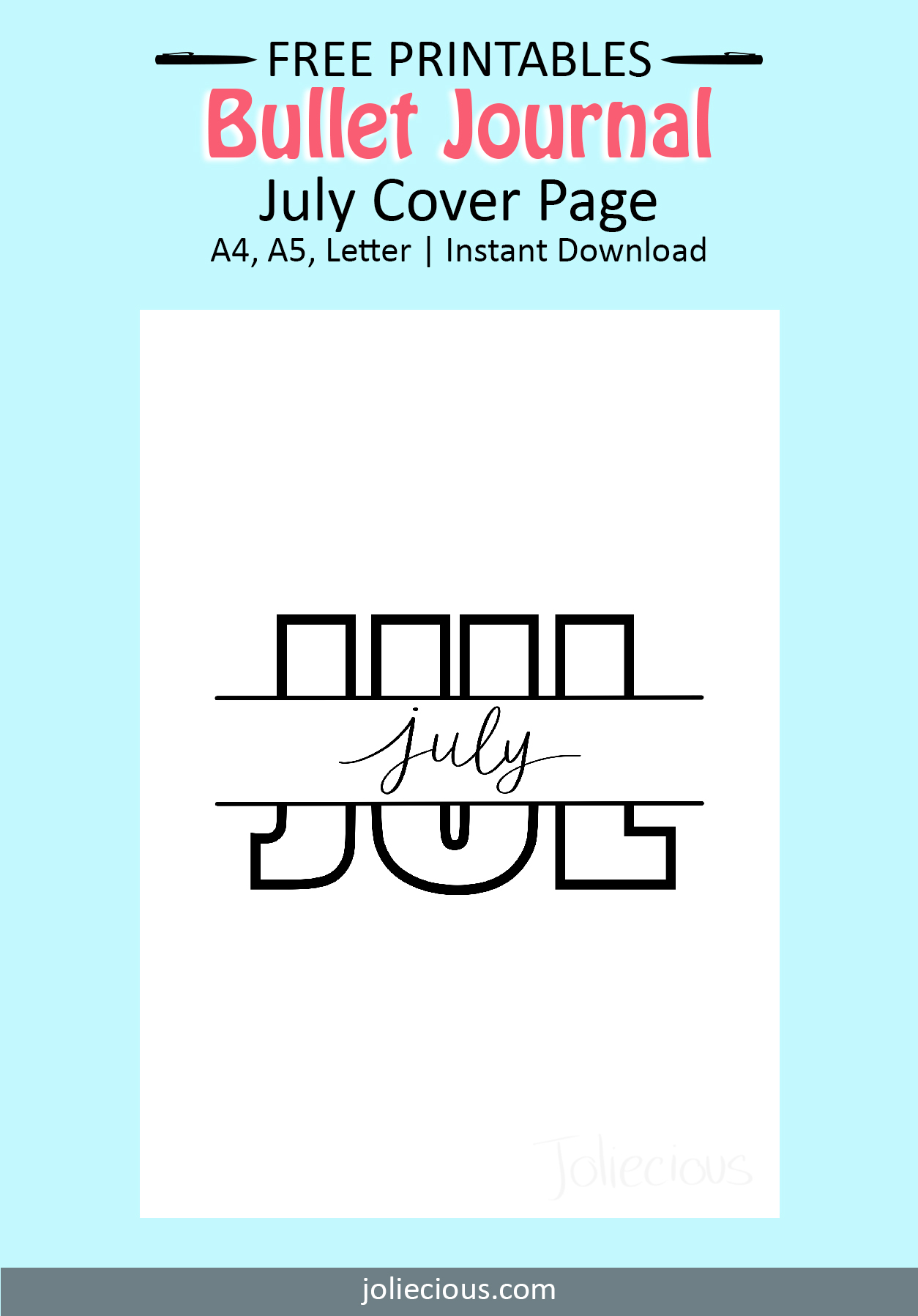 july bullet journal theme