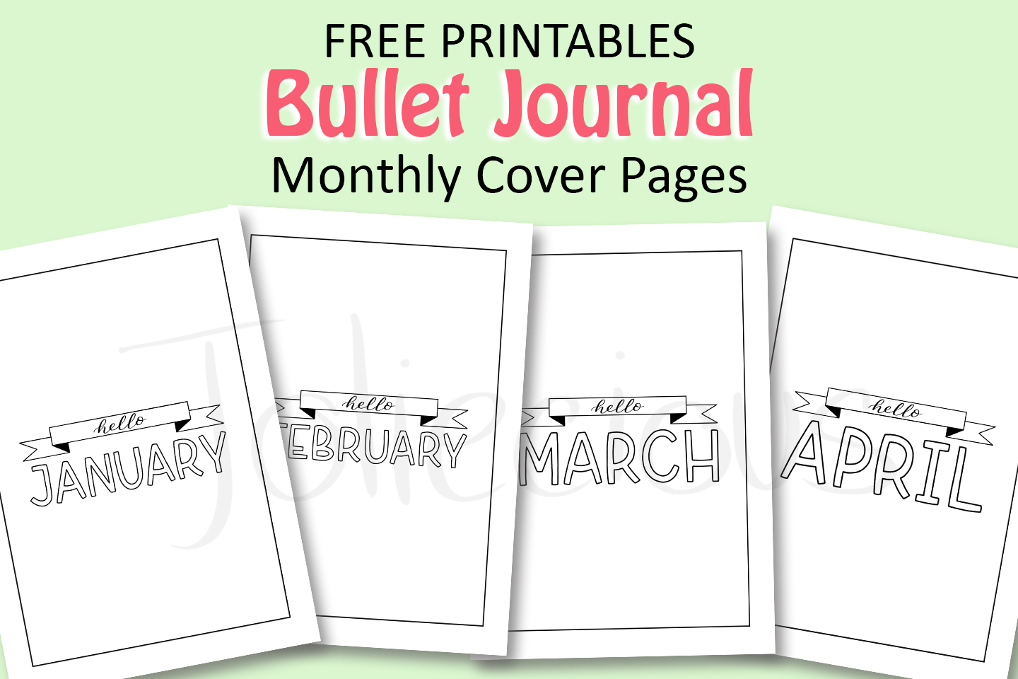 Free Bullet Journal Cover Page