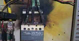 Photo 3, Arcing Caused by Loose Input Contacts