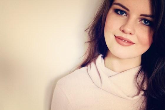 brunette-against-white-background