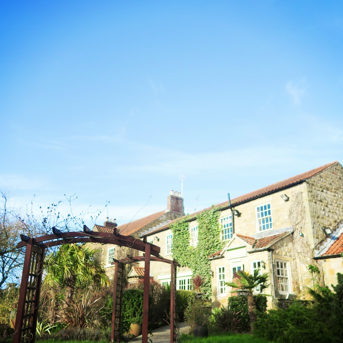 Sunny day at Ox Pasture Hall in Scarborough Yorkshire