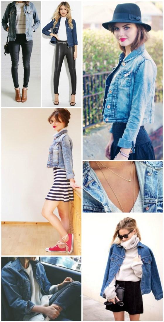 denim jacket collage