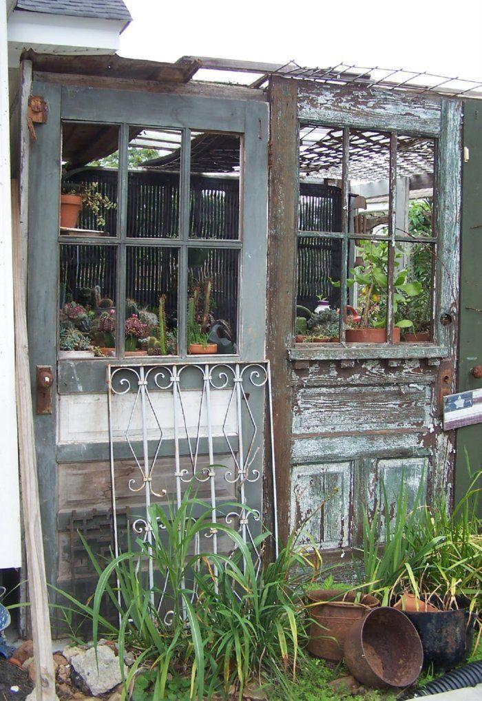 Des ides originales pour recycler vos vieilles portes en bois  Joli Joli Design