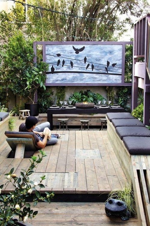 Des inspirations pour se btir un romantique petit cinma maison extrieur  Joli Joli Design
