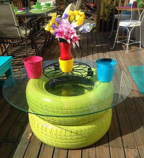 15 ides pour recycler vos pneus usags et leur donner une nouvelle utilit  Joli Joli Design