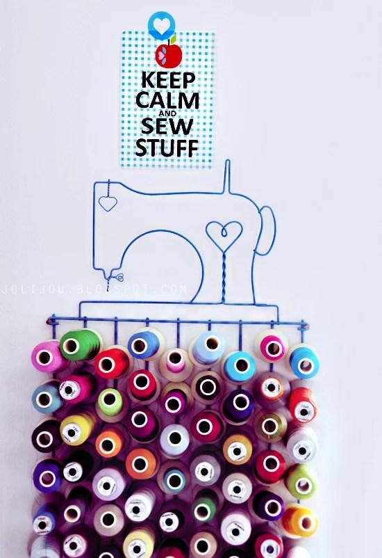 keep calm and sew stuff postcard by jolijou