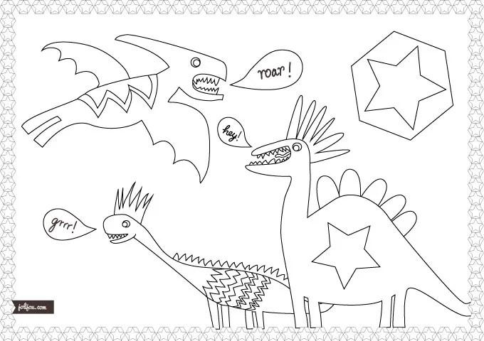 Dinopunks - Malvorlage - Jolijou