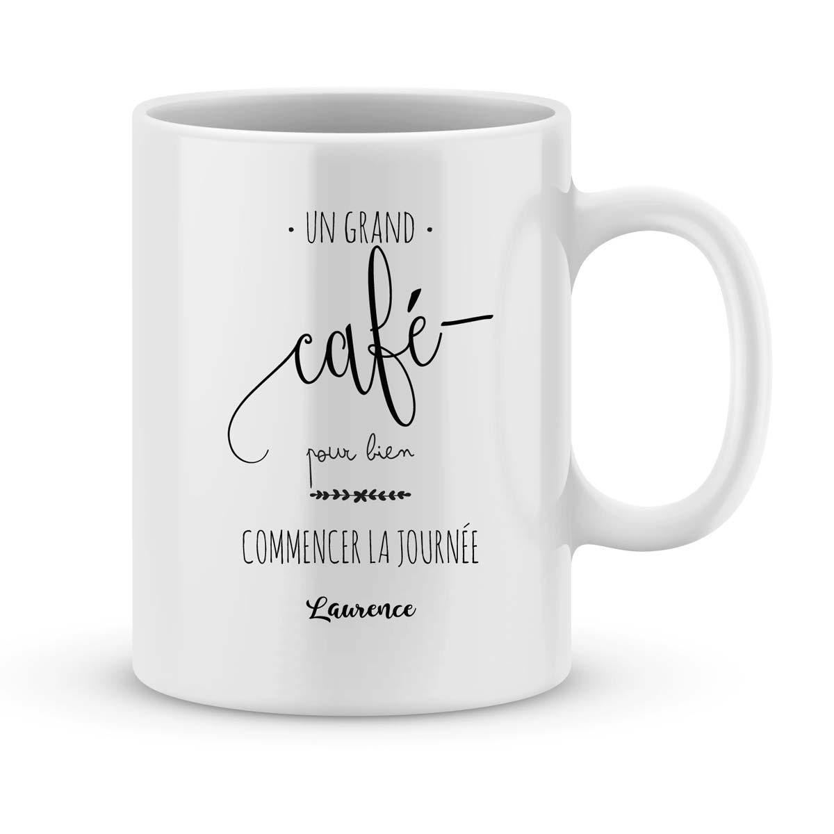 mug personnalise avec un prenom un grand cafe