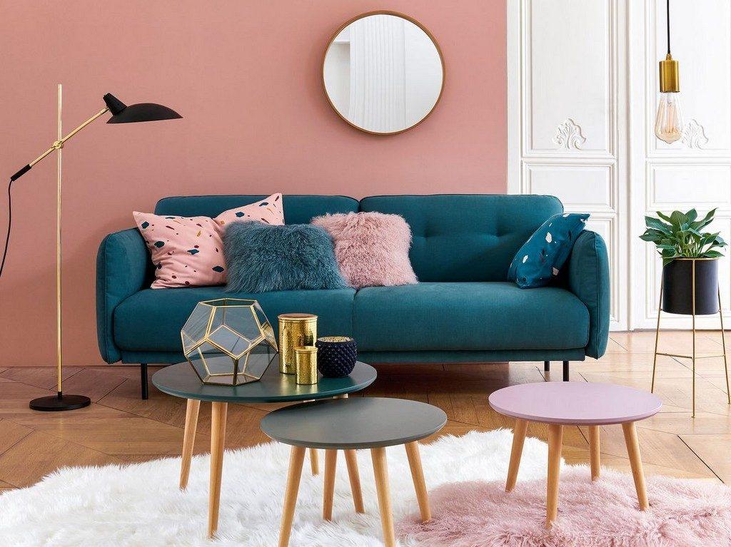 Best Salon Scandinave Rose Ideas - House Design - marcomilone.com