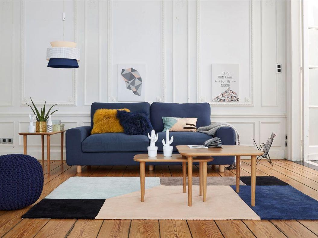 Des ides pour un salon en bleu et rose  Joli Place