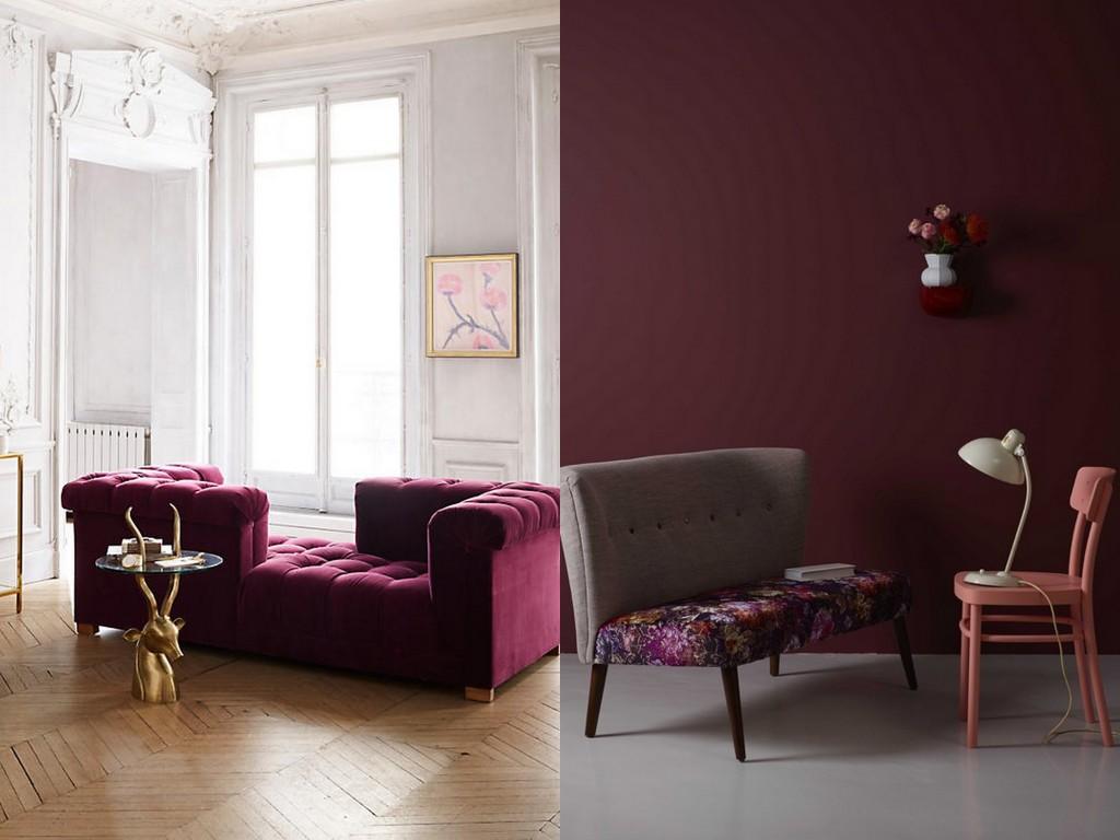 Le bon mix dco  bordeaux rose et gris  Joli Place