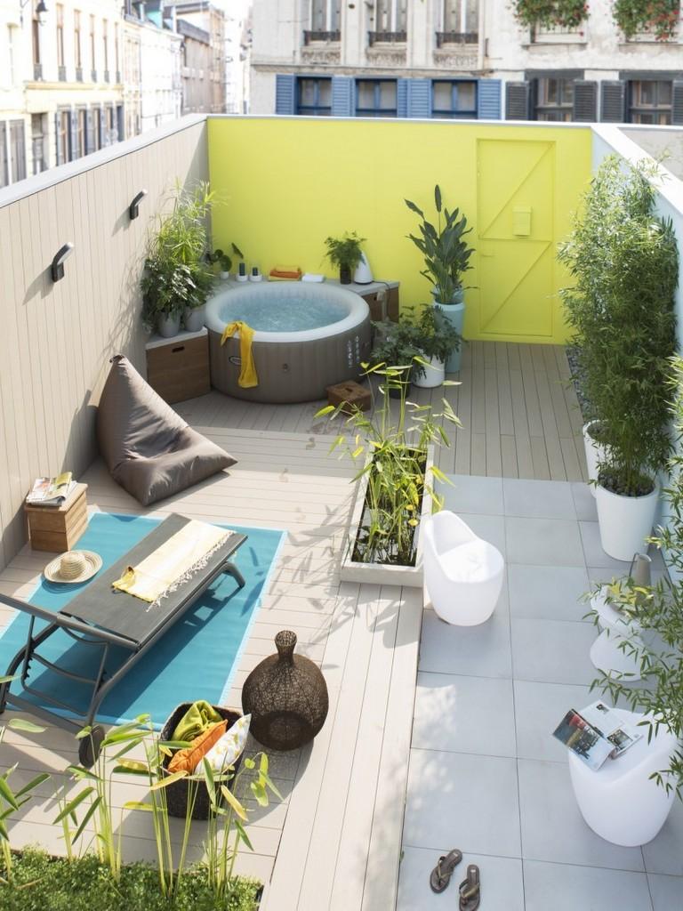 Dco extrieure  osez le mur jardin peint en couleur  Joli Place