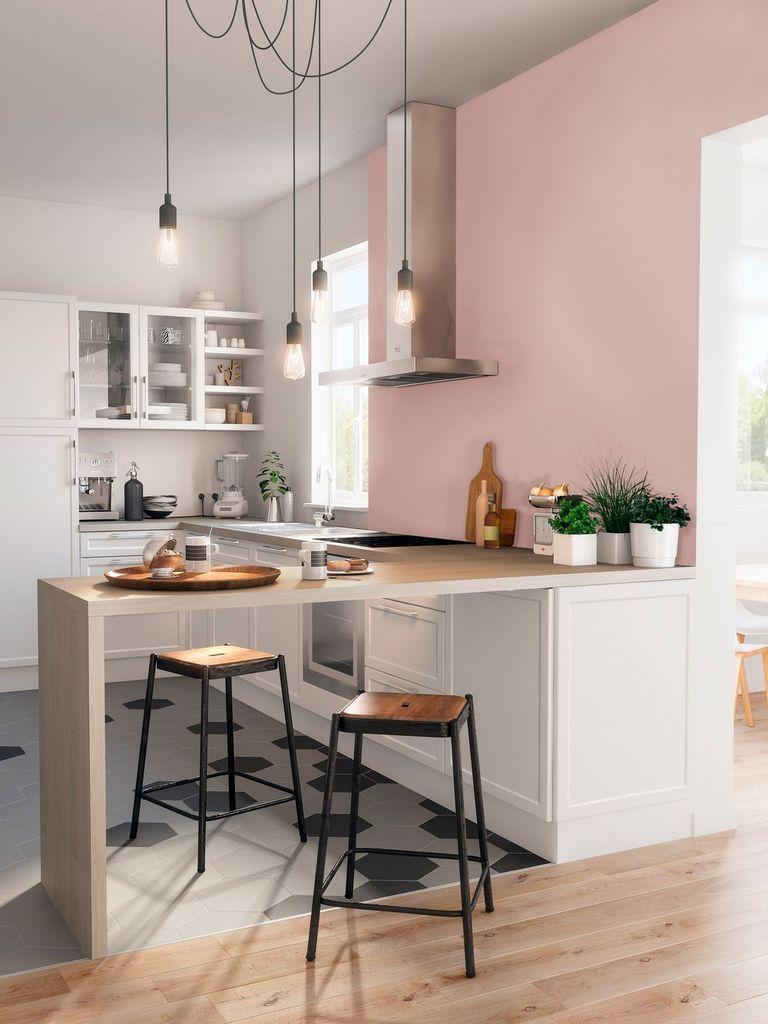 Des ides pour oser une cuisine rose poudr  Joli Place