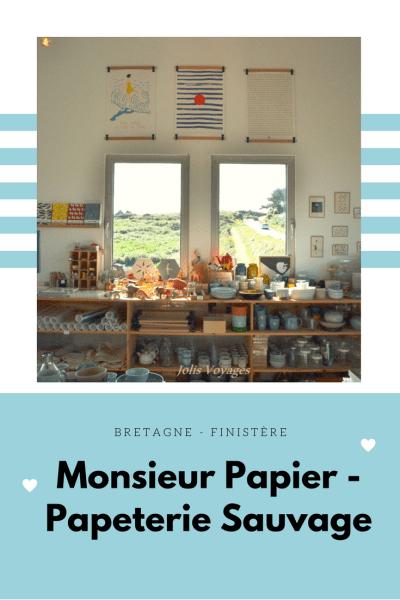 Monsieur Papier papeterie sauvage Pointe du Raz