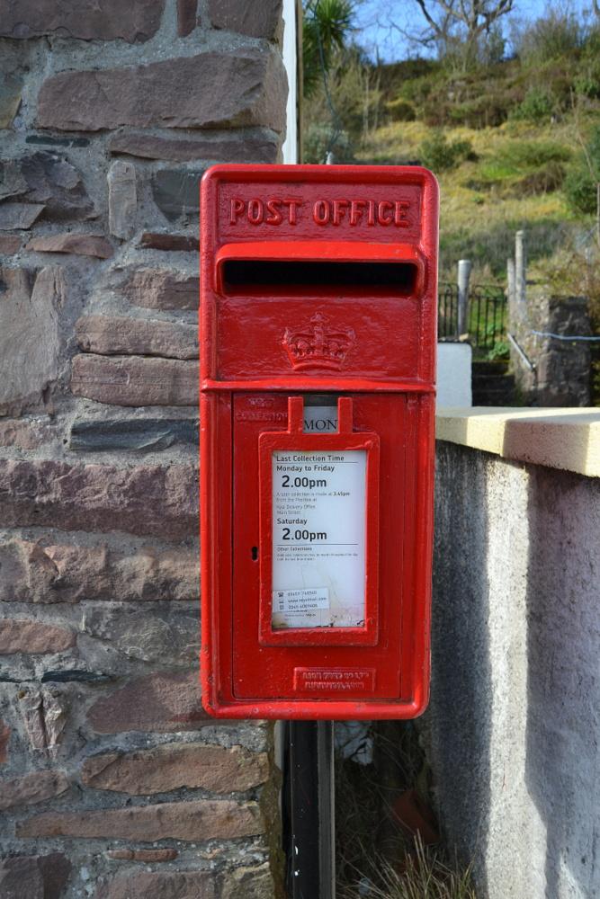 boite aux lettres Plockton village pêcheurs Ecosse